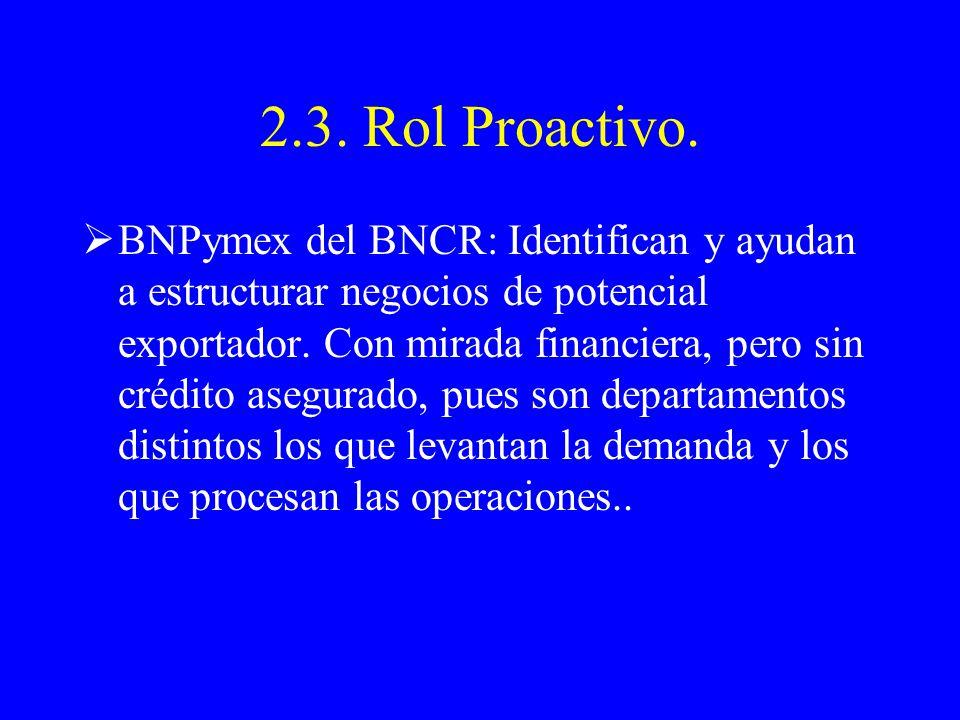 2.3. Rol Proactivo.