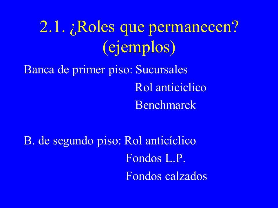 2.1. ¿Roles que permanecen.