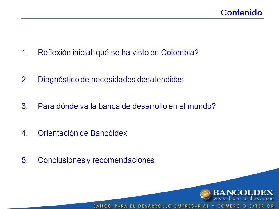 1.Reflexión inicial: qué se ha visto en Colombia.