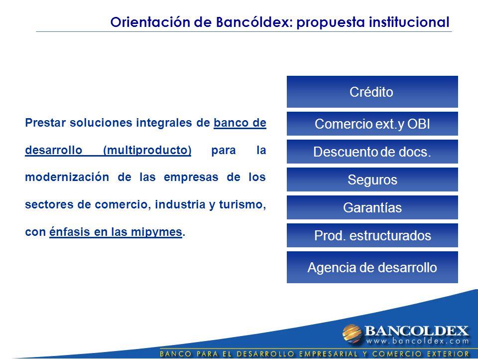Crédito Comercio ext.y OBI Seguros Garantías Prod.