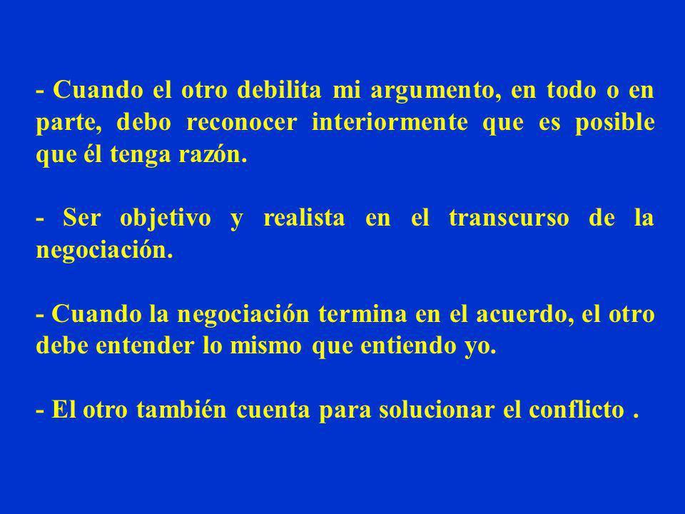 REGLAS DE LA NEGOCIACION Entre las Reglas que deben cumplirse para asegurar el proceso de negociación, se destacan las siguientes: - La negociación no