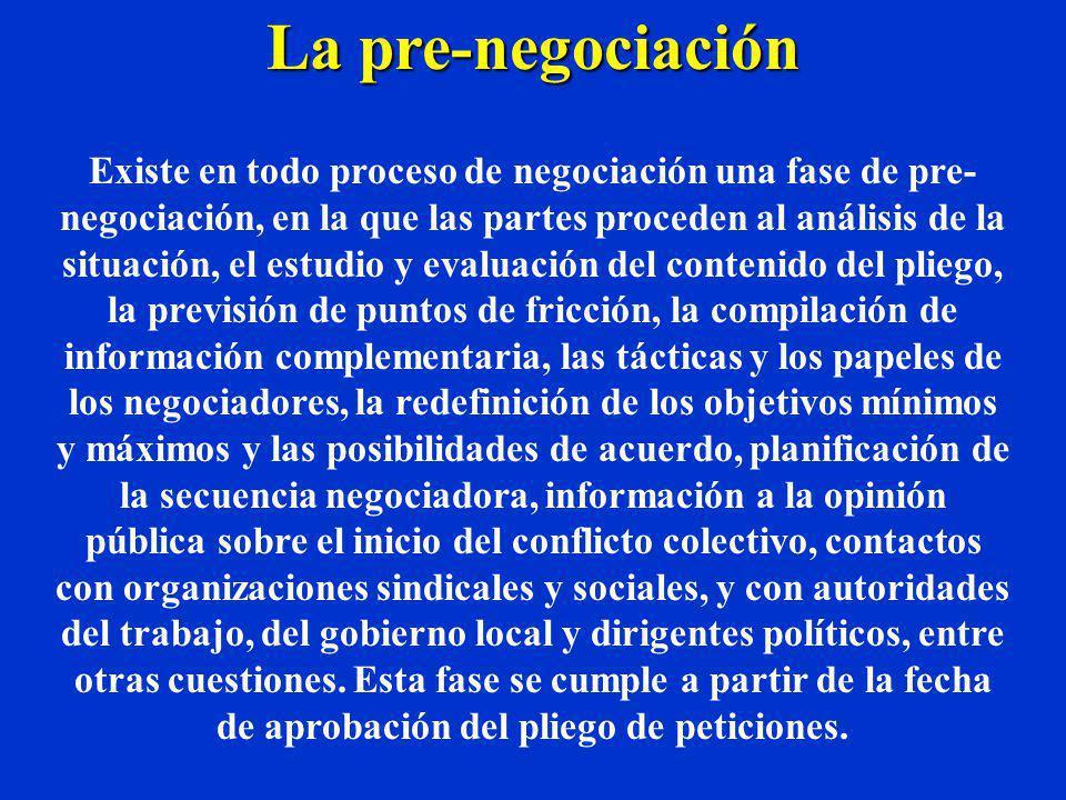 Por lo tanto, la información es el elemento fundamental en materia de negociación, pues ella nos permite medir posibilidades, establecer prioridades y