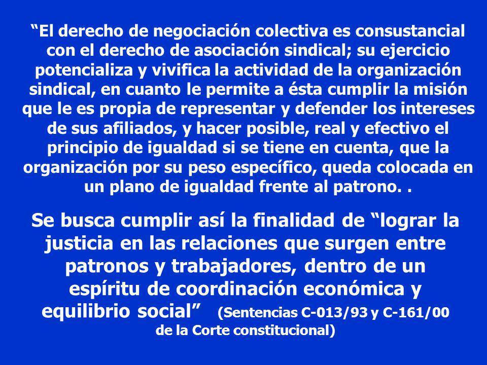 En el ámbito del Derecho del Trabajo es básico el reconocimiento dado por la Constitución del 91 al trípode sobre el cual se fundan las relaciones col