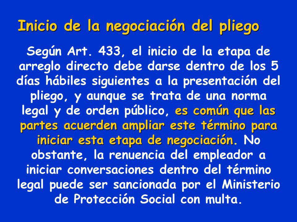 Aprobación y presentación del pliego que da inicio al conflicto colectivo Según el Art. 376 del CST, es una atribución exclusiva de la asamblea Genera