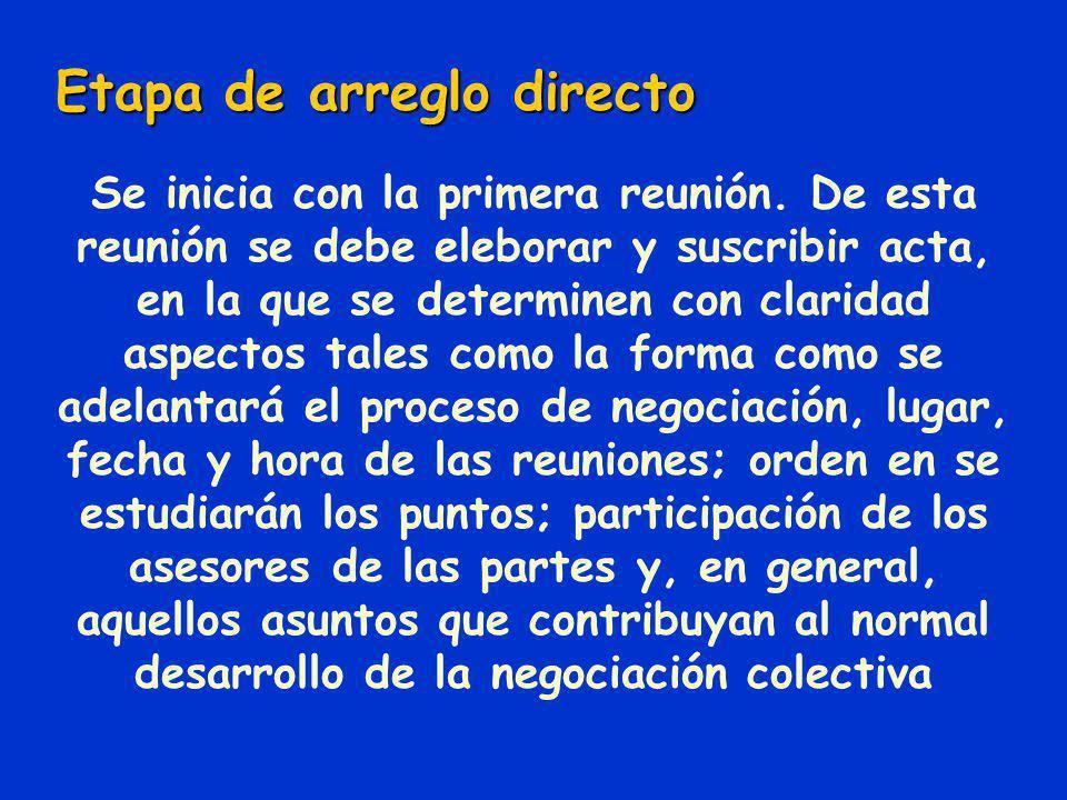 Inicio de la negociación del pliego es común que las partes acuerden ampliar este término para iniciar esta etapa de negociación Según Art. 433, el in