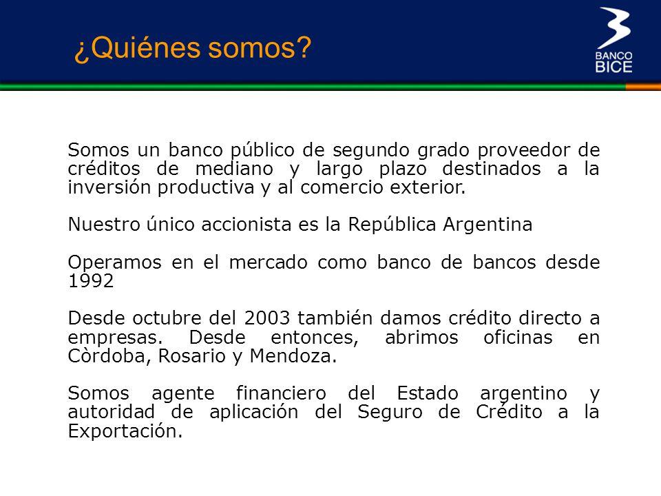 Indicadores del BICE y del sistema financiero ¿Quiénes somos.