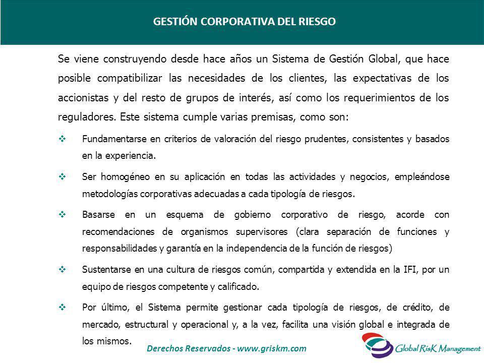 Derechos Reservados - www.griskm.com Se viene construyendo desde hace años un Sistema de Gestión Global, que hace posible compatibilizar las necesidades de los clientes, las expectativas de los accionistas y del resto de grupos de interés, así como los requerimientos de los reguladores.