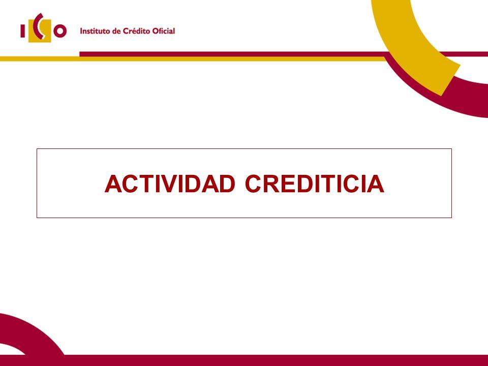10/06/2014 Financiación directa Disposiciones de préstamos y avales (millones en media anual) (*) Sólo considerados los préstamos
