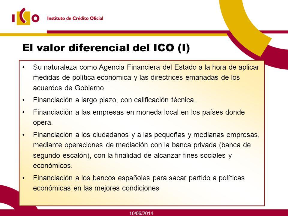 10/06/2014 El valor diferencial del ICO (I) Su naturaleza como Agencia Financiera del Estado a la hora de aplicar medidas de política económica y las