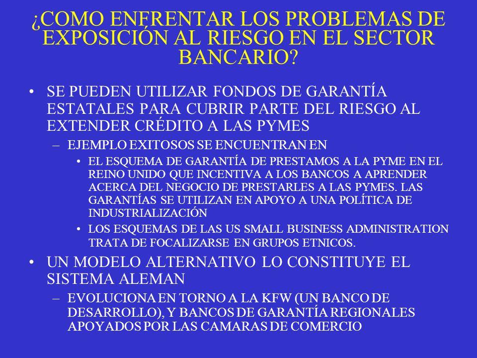 ¿COMO ENFRENTAR LOS PROBLEMAS DE EXPOSICIÓN AL RIESGO EN EL SECTOR BANCARIO.