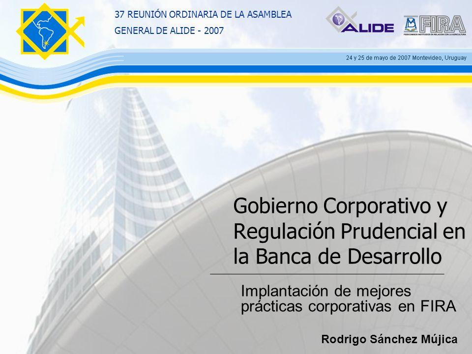 Gobierno Corporativo y Regulación Prudencial en la Banca de Desarrollo Implantación de mejores prácticas corporativas en FIRA 37 REUNIÓN ORDINARIA DE