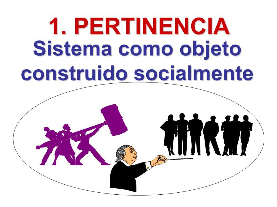 1. PERTINENCIA Sistema como objeto construido socialmente