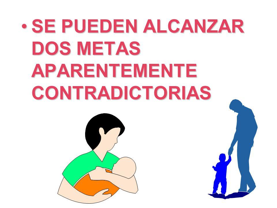 SE PUEDEN ALCANZAR DOS METAS APARENTEMENTE CONTRADICTORIASSE PUEDEN ALCANZAR DOS METAS APARENTEMENTE CONTRADICTORIAS