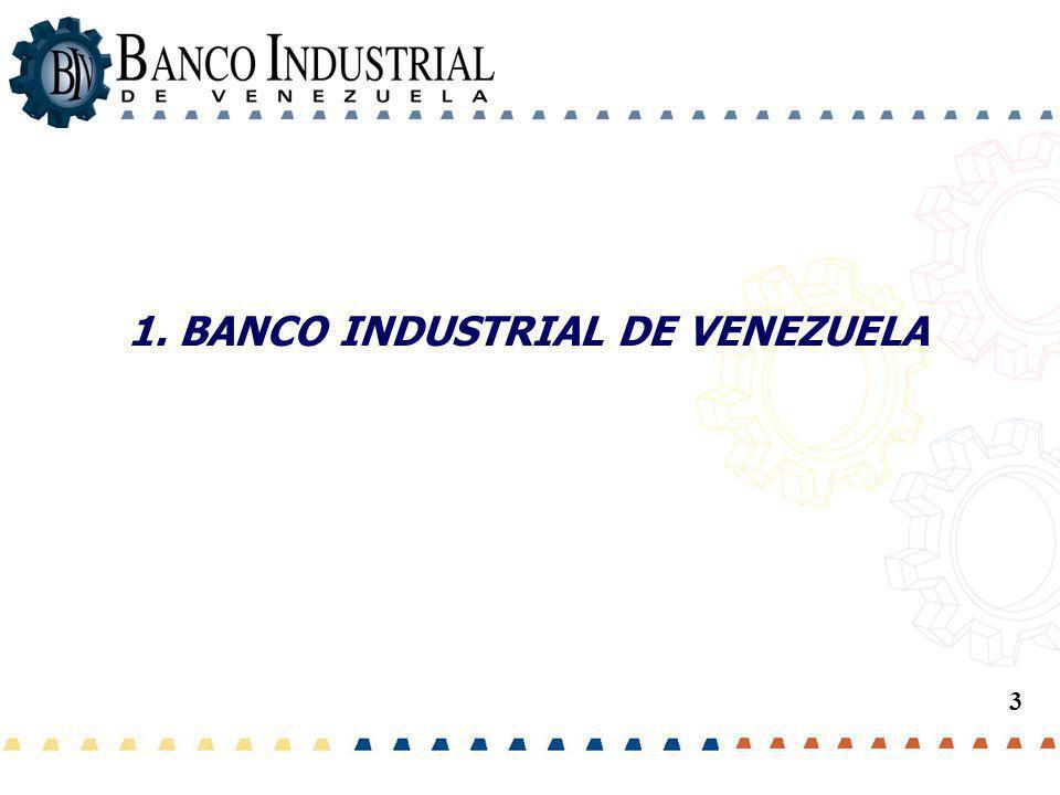 Área de... 1. BANCO INDUSTRIAL DE VENEZUELA 3