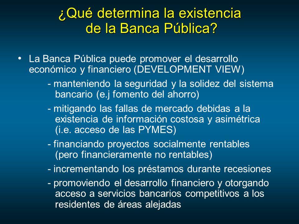 ¿Qué determina la existencia de la Banca Pública.