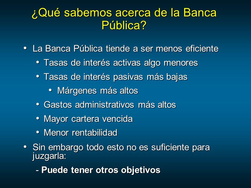 ¿Qué sabemos acerca de la Banca Pública.