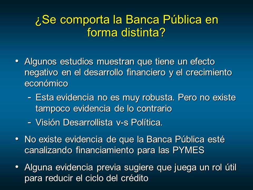 ¿Se comporta la Banca Pública en forma distinta.