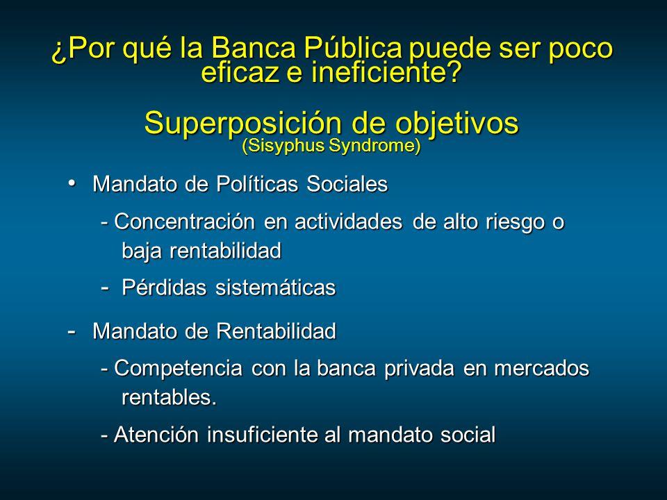 ¿Por qué la Banca Pública puede ser poco eficaz e ineficiente.