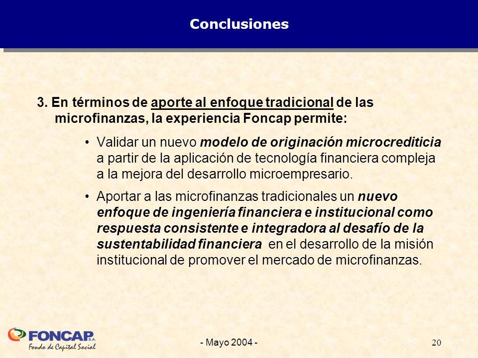 20- Mayo 2004 - Conclusiones 3.