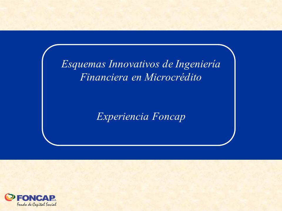 Esquemas Innovativos de Ingeniería Financiera en Microcrédito Experiencia Foncap