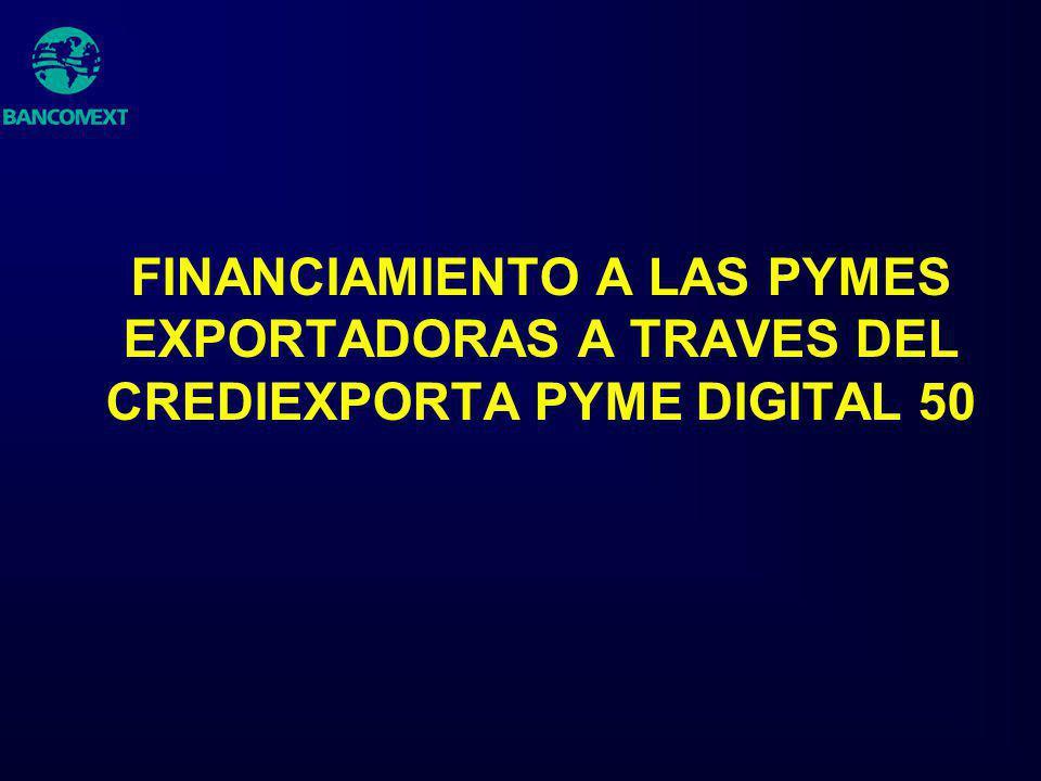 FINANCIAMIENTO A LAS PYMES EXPORTADORAS A TRAVES DEL CREDIEXPORTA PYME DIGITAL 50