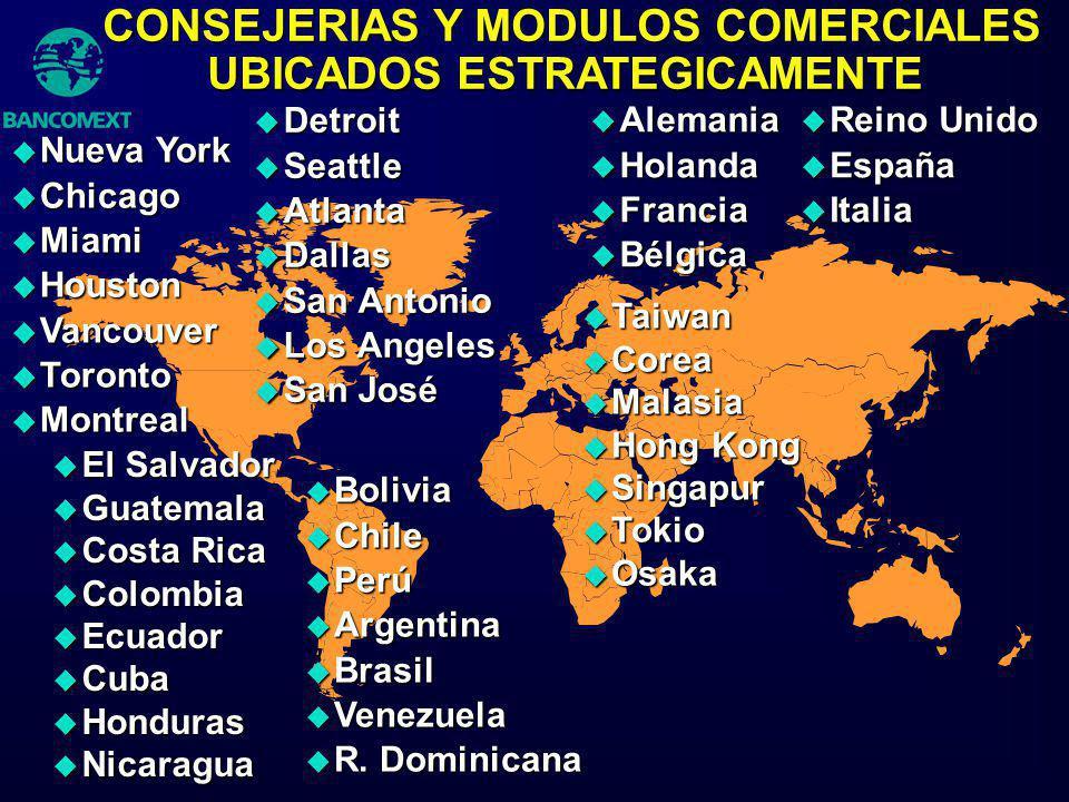 u Detroit u Seattle u Atlanta u Dallas u San Antonio u Los Angeles u San José u El Salvador u Guatemala u Costa Rica u Colombia u Ecuador u Cuba u Hon