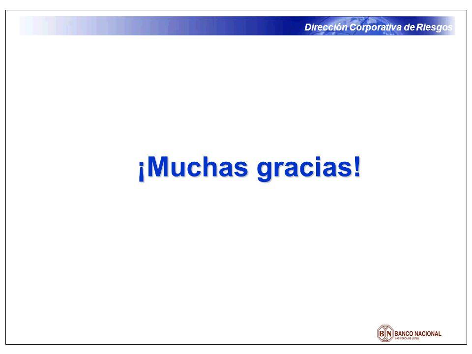 Dirección Corporativa de Riesgos ¡Muchas gracias!
