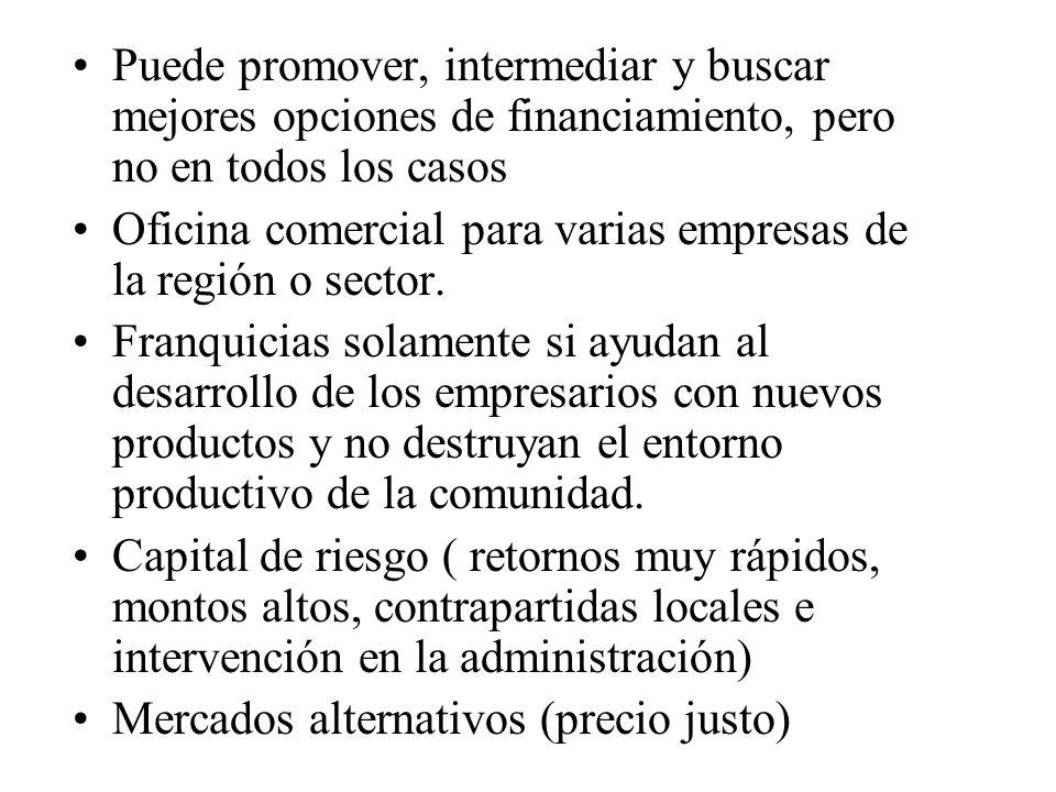 Algunas ideas para la internacionalización Incentivar la asociatividad de empresas de sectores/ regiones, para importar en común.