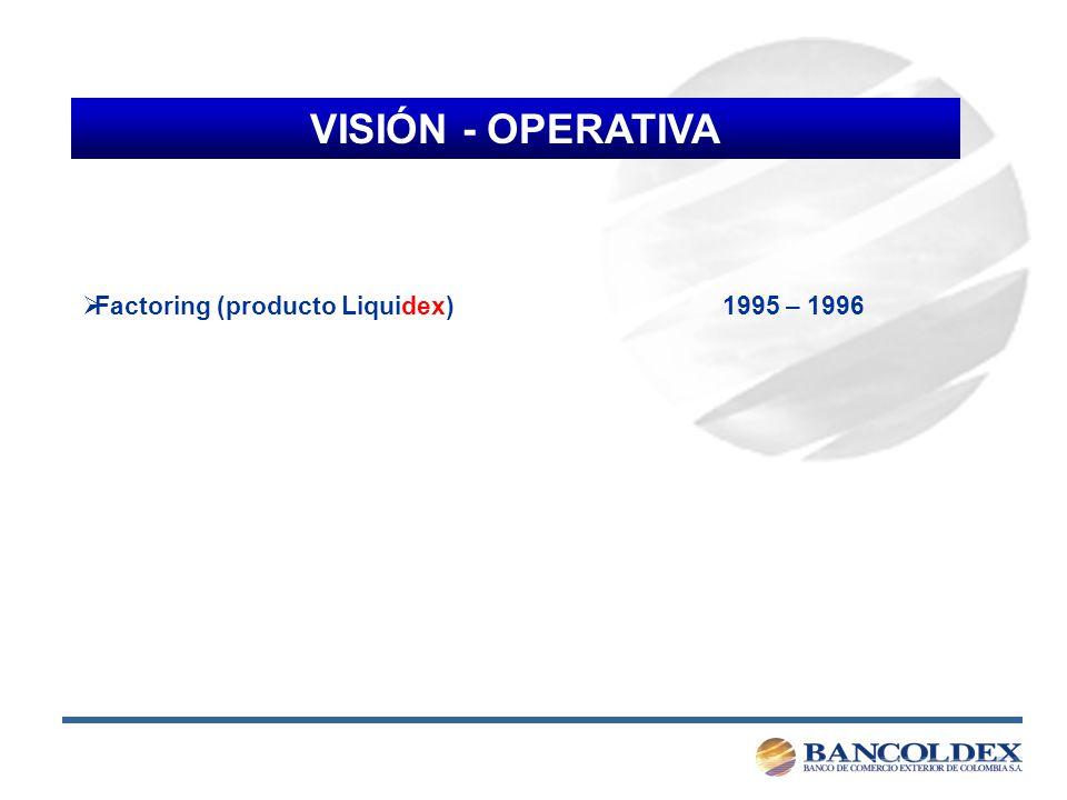 VISIÓN - OPERATIVA Captación de recursos 1997