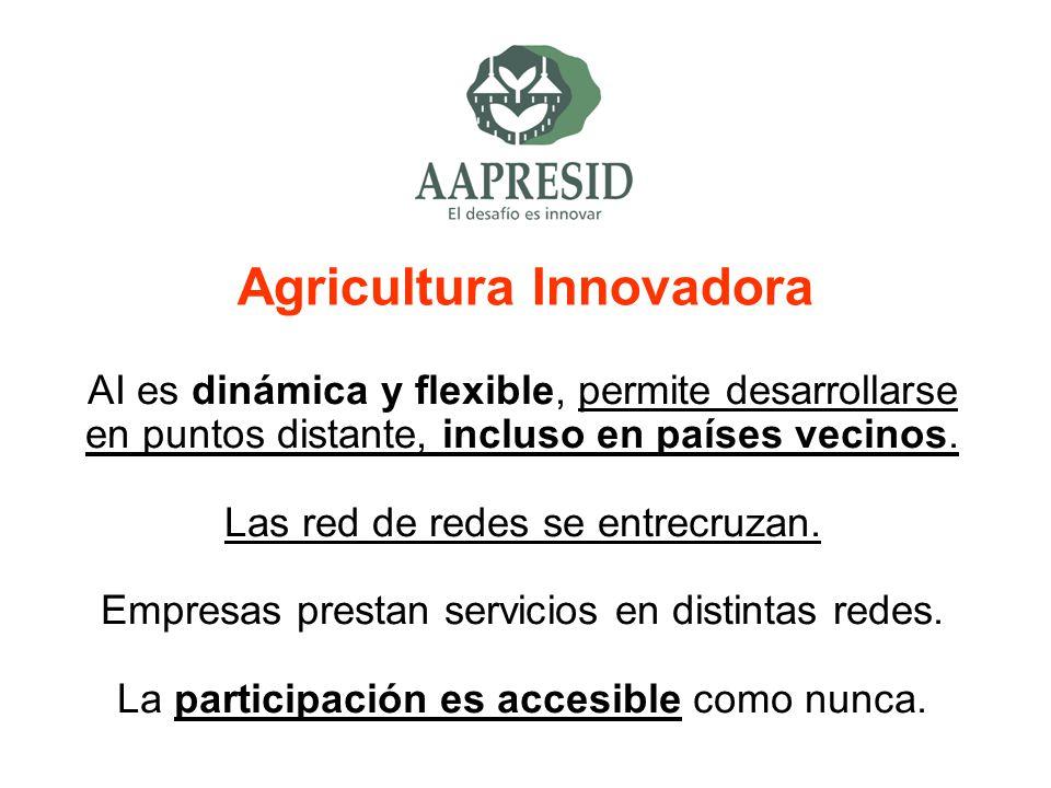 Agricultura Innovadora AI es dinámica y flexible, permite desarrollarse en puntos distante, incluso en países vecinos. Las red de redes se entrecruzan