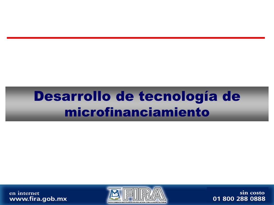Desarrollo de tecnología de microfinanciamiento