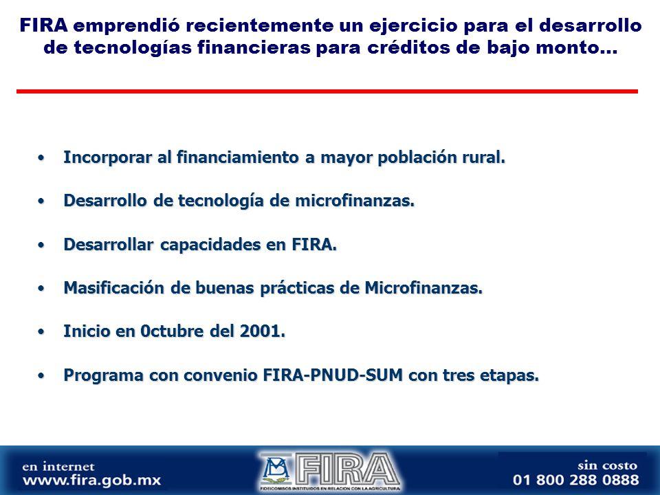 FIRA emprendió recientemente un ejercicio para el desarrollo de tecnologías financieras para créditos de bajo monto...