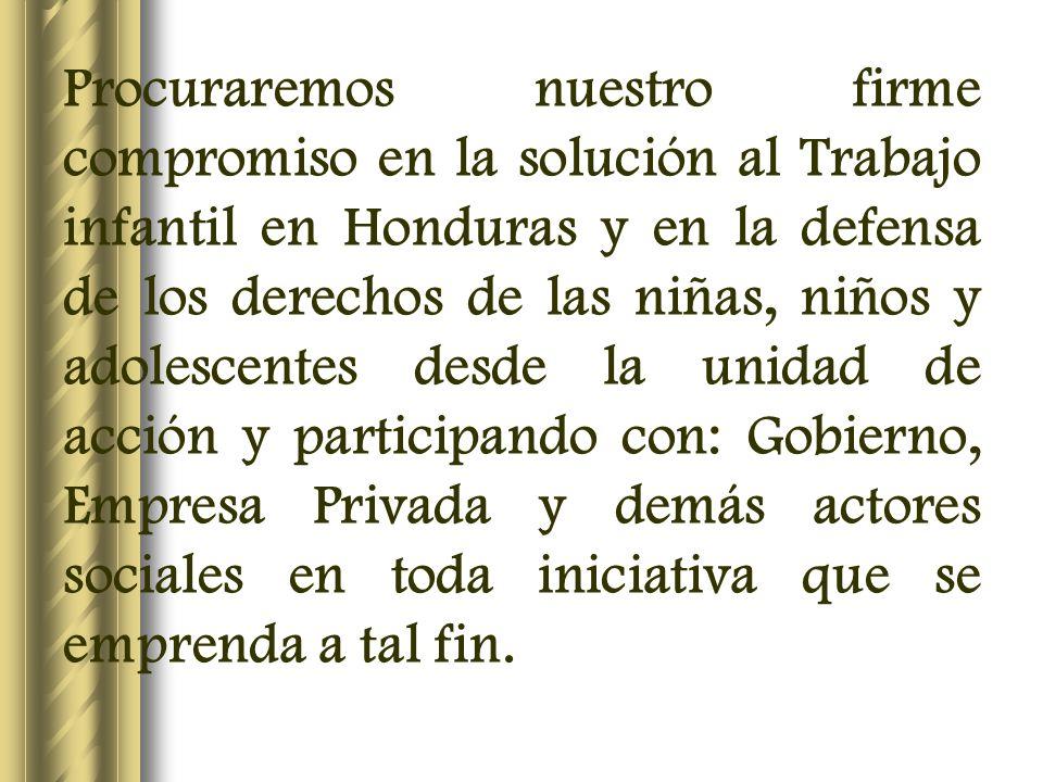 Eje Programático Organización Resolución número 4: Impulsar procesos comunes frente al trabajo infantil por parte del movimiento obrero y campesino de la subregión centroamericana.