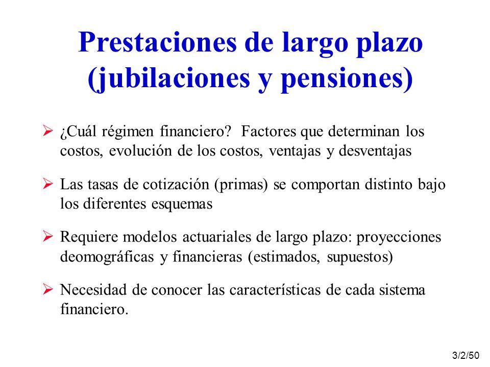 Prestaciones de largo plazo (jubilaciones y pensiones) ¿Cuál régimen financiero.