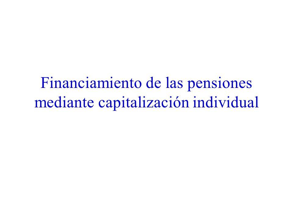 Financiamiento de las pensiones mediante capitalización individual