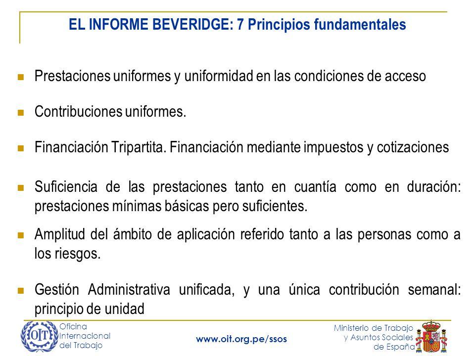 Oficina Internacional del Trabajo Ministerio de Trabajo y Asuntos Sociales de España www.oit.org.pe/ssos Financiación Tripartita.