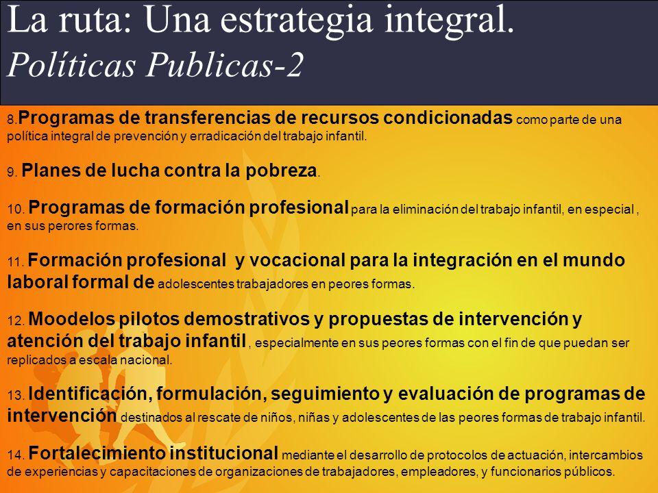 Programa IPEC en América Latina 1.Planes nacionales sindicales para la prevención y erradicación del trabajo infantil.