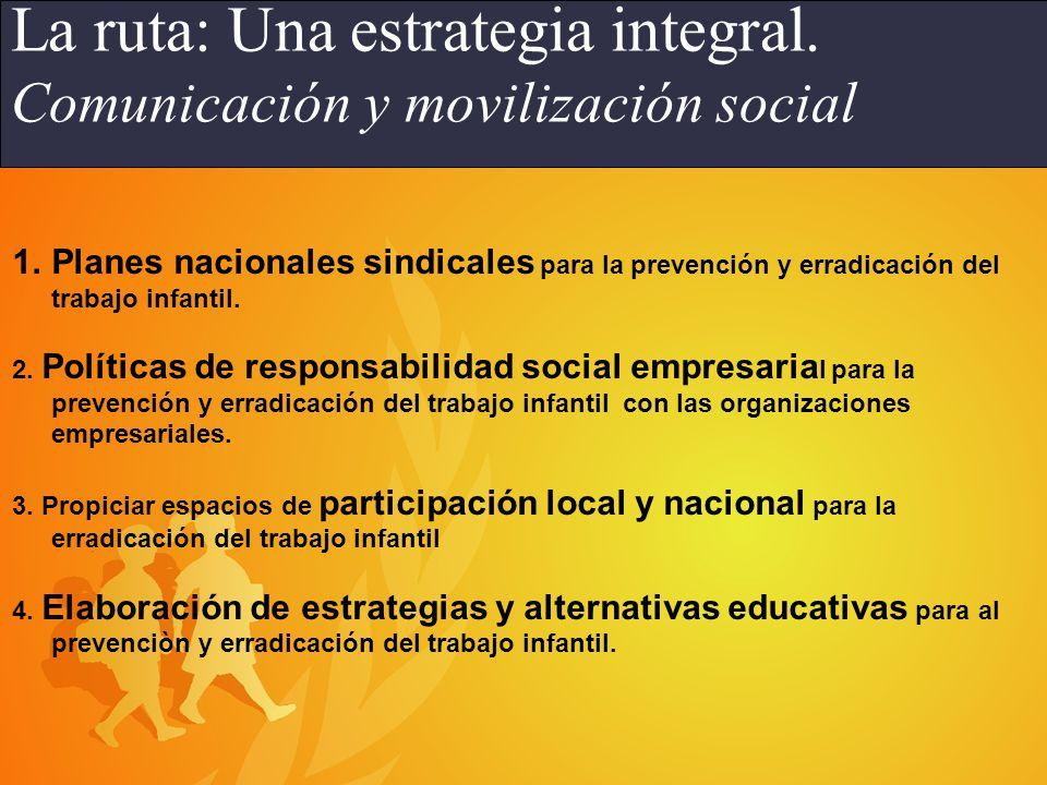 Adecuación de la normativa nacional en el marco de los Convenios de la OIT 138 y 182.