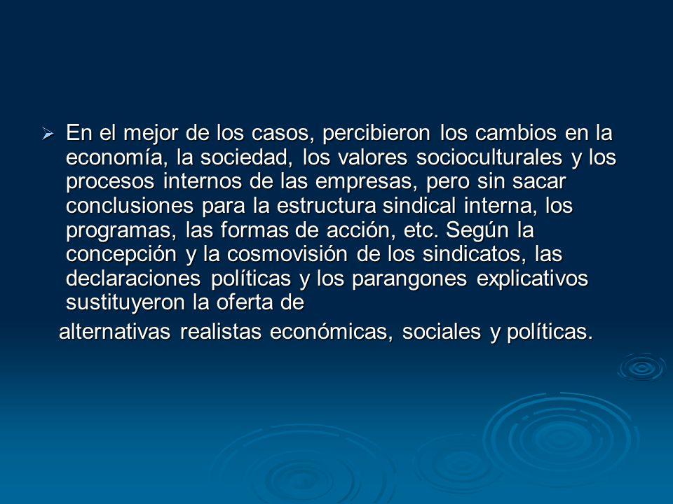 En el mejor de los casos, percibieron los cambios en la economía, la sociedad, los valores socioculturales y los procesos internos de las empresas, pe