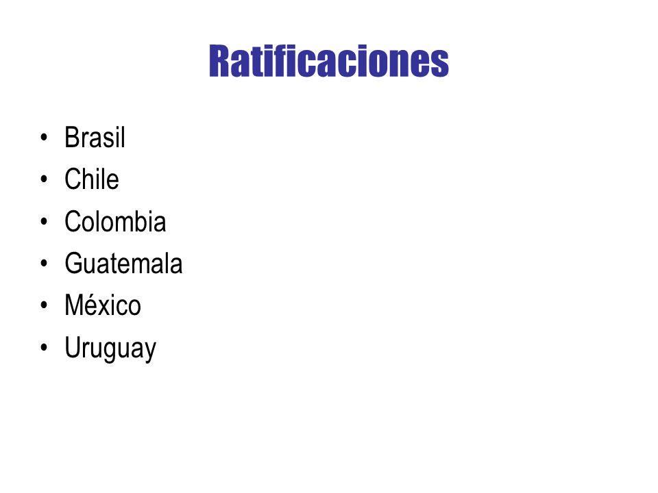 Ratificaciones Brasil Chile Colombia Guatemala México Uruguay
