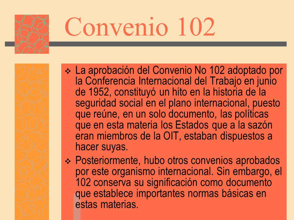 8.Prestaciones de invalidez Convenio núm. 102, parte IX; Convenio núm.