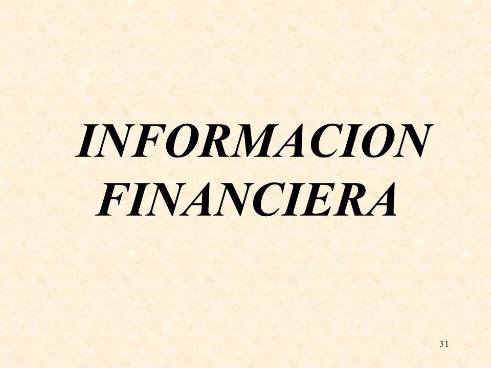 31 INFORMACION FINANCIERA