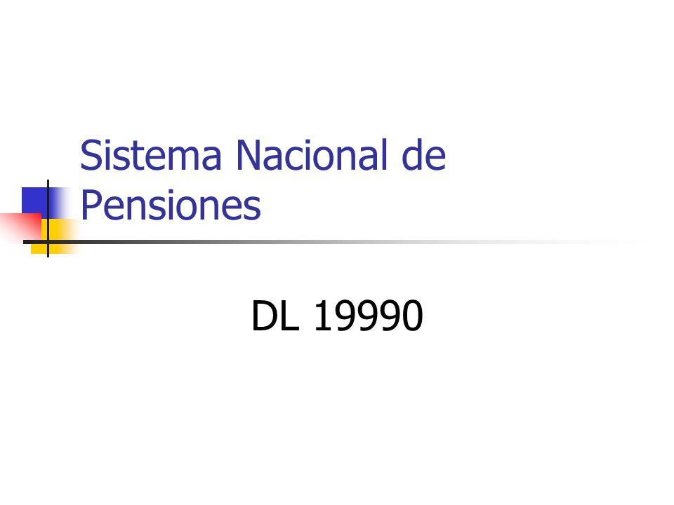 Sistema Nacional de Pensiones DL 19990