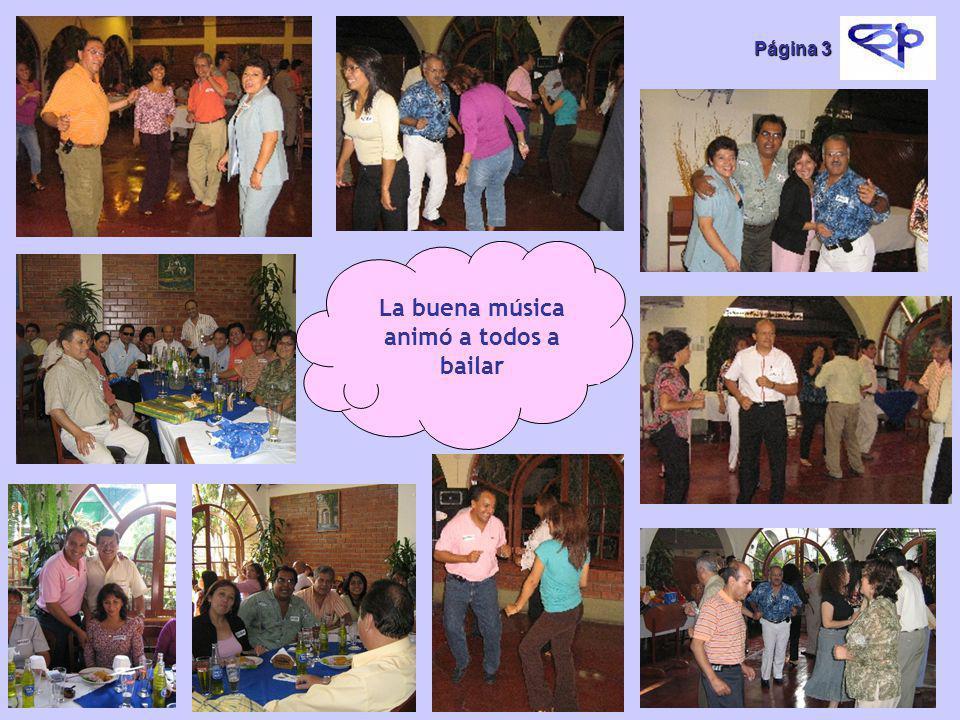 Página 3 La buena música animó a todos a bailar