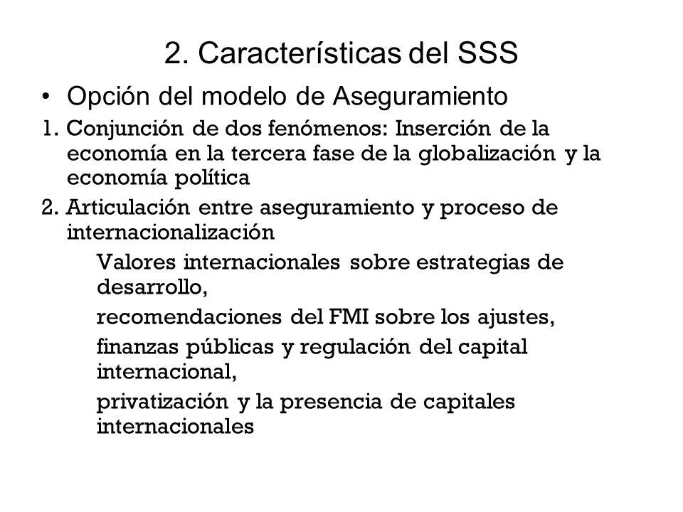 2. Características del SSS Opción del modelo de Aseguramiento 1.