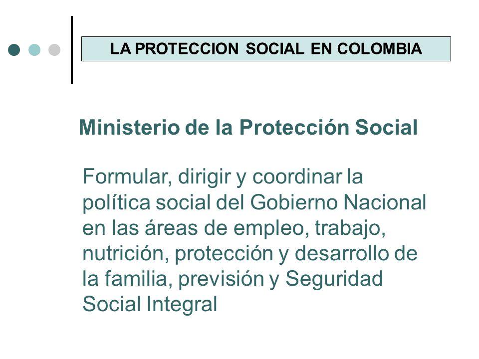 LA PROTECCION SOCIAL EN COLOMBIA MINISTRO DE LA PROTECCION SOCIAL DIEGO PALACIO BETANCOURT VICEMINISTRO DE RELACIONES LABORALES ANDRES F.