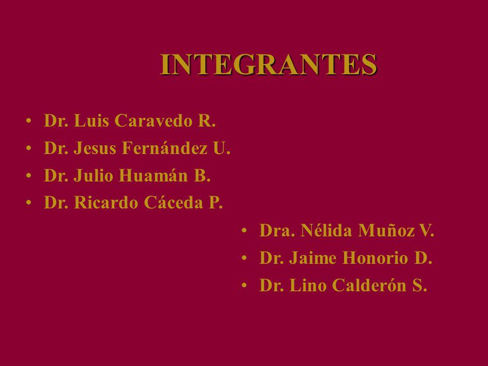 INTEGRANTES Dr. Luis Caravedo R. Dr. Jesus Fernández U.