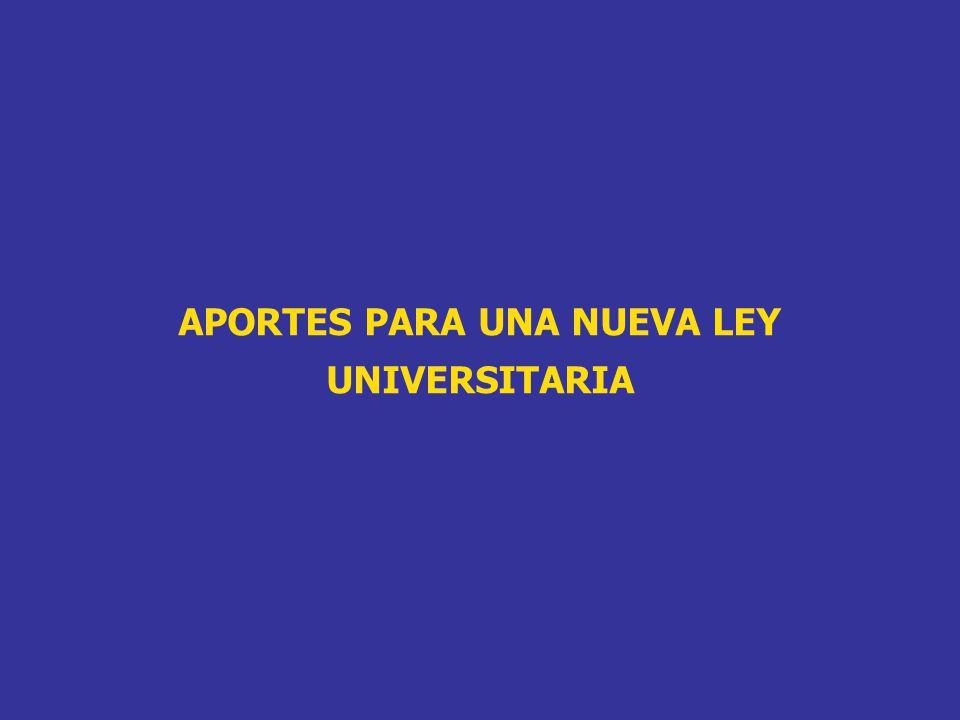 CRITERIOS: LOS PROYECTOS DE LEY UNIVERSITARIA COINCIDEN EN LA NECESIDAD DE LA FORMACIÓN PROFESIONAL CON CALIDAD COMPETITIVA.