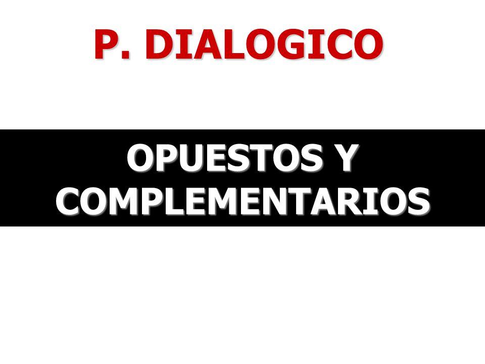 P. DIALOGICO OPUESTOS Y COMPLEMENTARIOS