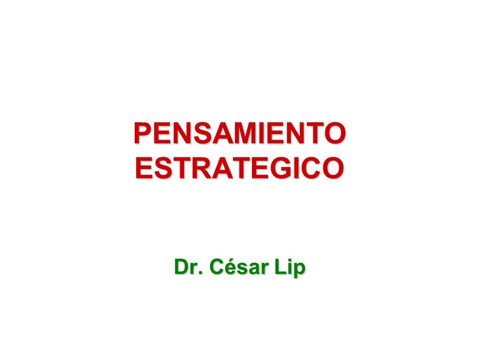 PENSAMIENTO ESTRATEGICO Dr. César Lip